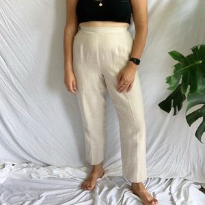 Vintage High Waisted Linen Trouser
